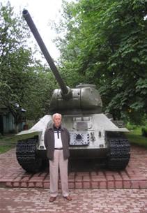 Soviet tank veteran Vladimir Alexeev at Kursk