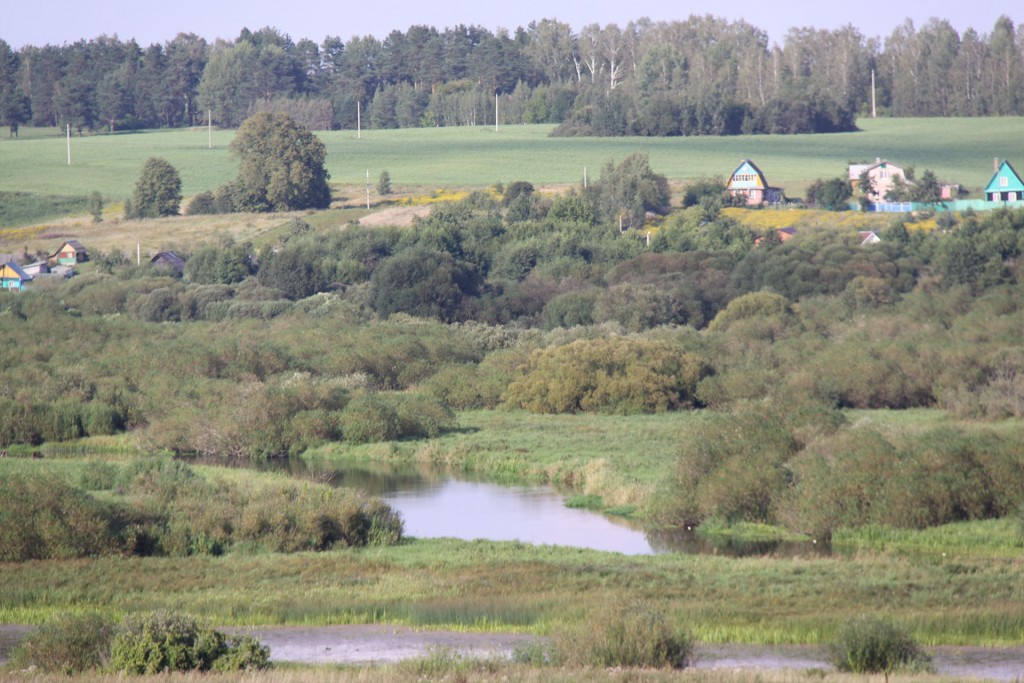 Napoleon's crossing point near Studianka today.