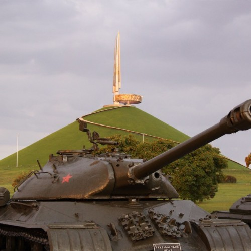 The mound of Glory just outside Minsk City.