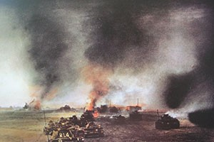 The fighting at Prokhorovka in July 1943.