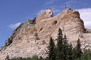 The unfinished Crazy Horse Monument in the sacred Black Hills.