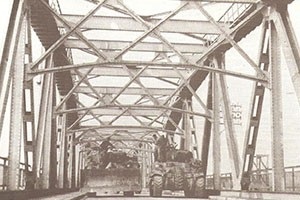 The Grave bridge today and in 1944 below.