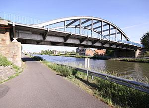 Joe's Bridge, today and in September 1944 below.