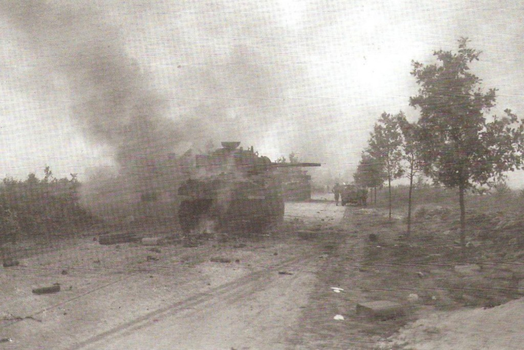 The anti-tank ambush on the Valkensvaard road in September 1944