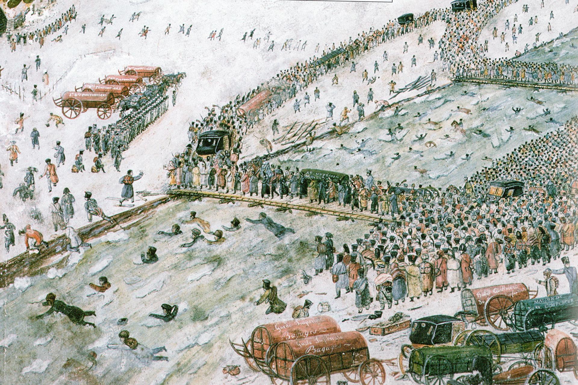 Napoleon's crossing point near Studianka.