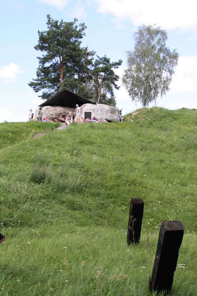 The same bunker remnants today.