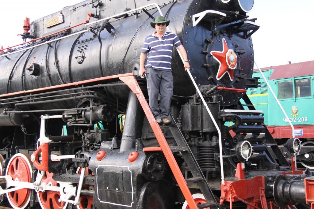 The atmospheric steam locomotive museum at Brest.
