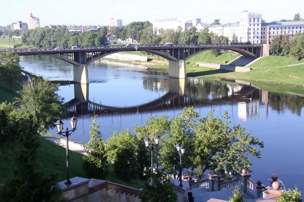 Vitebsk, city of culture, spanning the Berezina today.