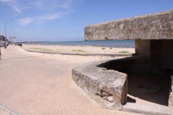 Concrete German 50 mm anti-tank gun emplacement on Juno Beach.