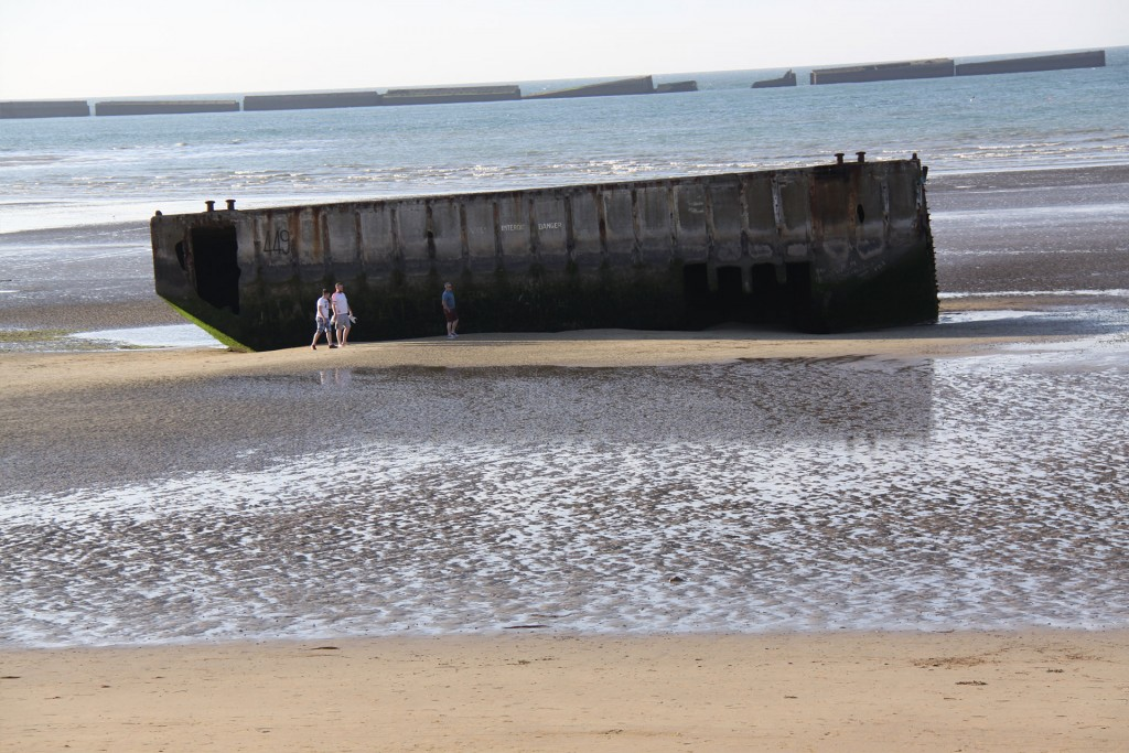 A section of the Mulberry Harbour at Arromanches