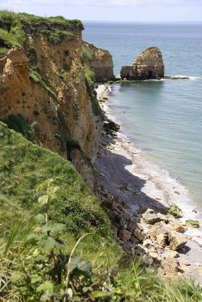 The cliffs scaled by the 2nd US Ranger Battalion at Pointe du Hoc