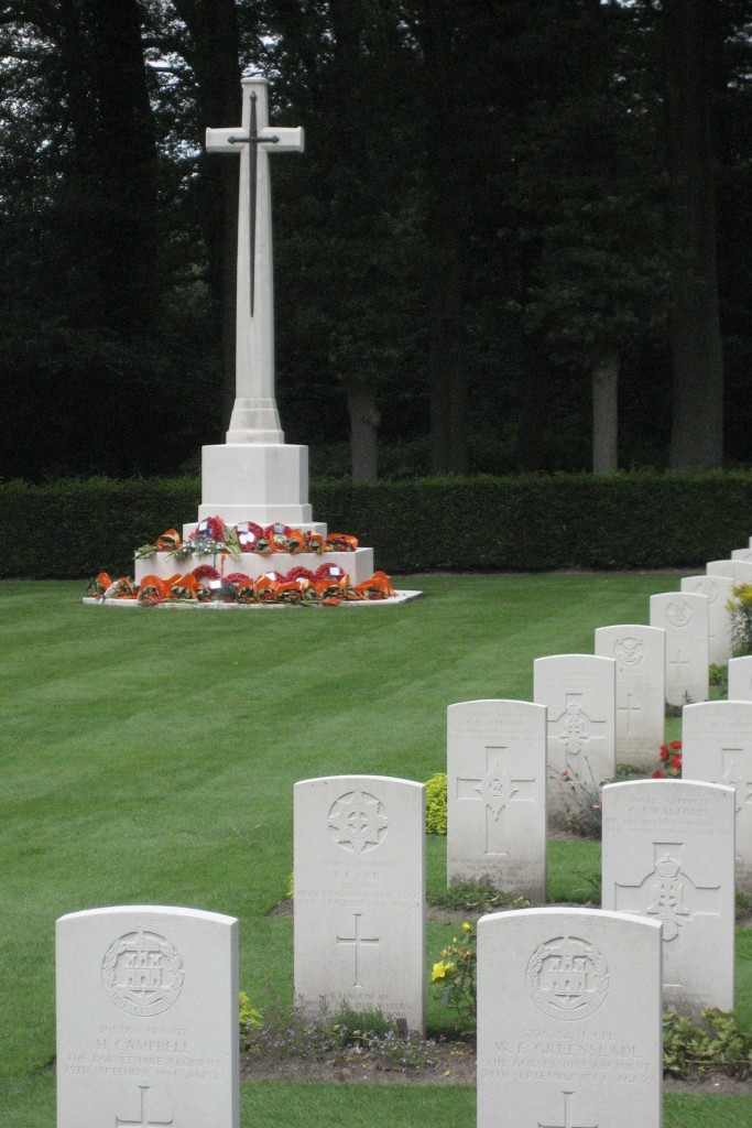 The poignant Airborne Cemetery at Oosterbeek today.