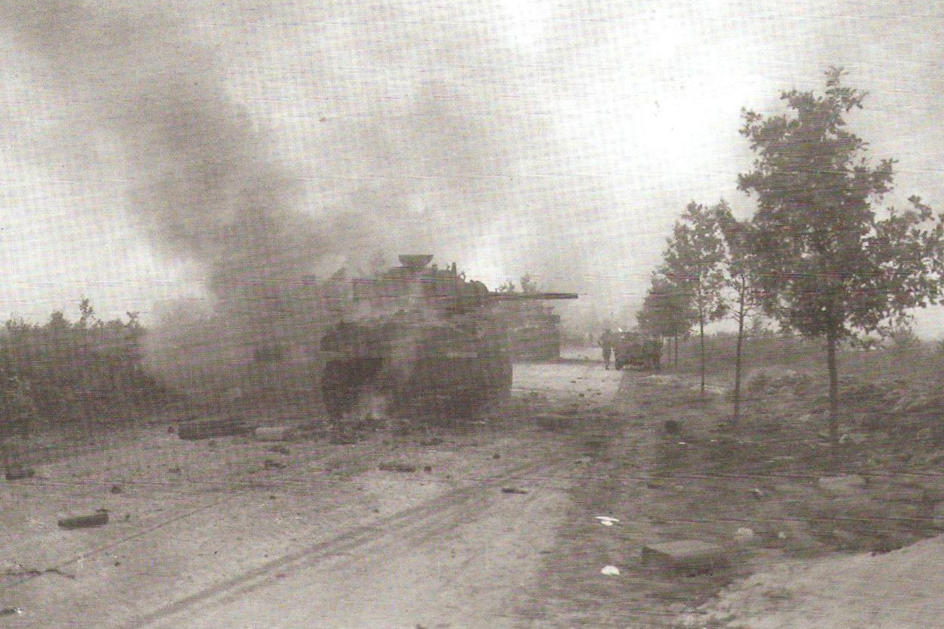 The anti-tank ambush on the Valkensvaard road in September 1944