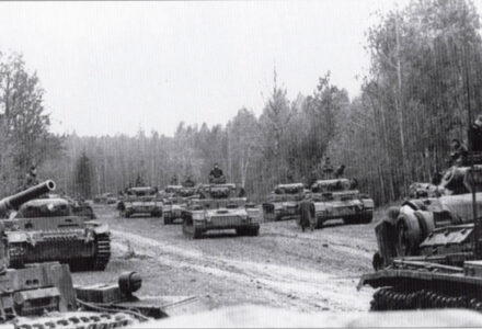 The 10th Panzer Division moves into its attack assembly area.