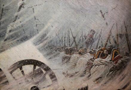 Napoleon's frozen retreat.